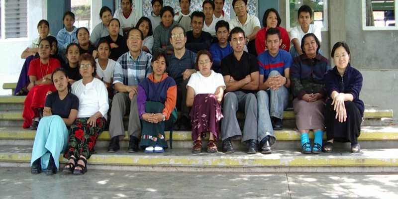 2003 - 멕시코<br> 멕시코 오하까 신학생 기도 세미나 참가자 (2003. 5.16.)