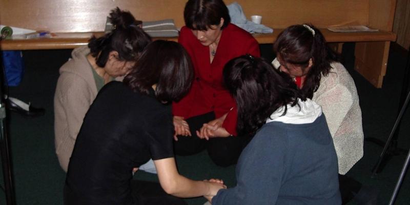 2003 - 미국 LA 기도학교 기도 세미나<br> L. A. 기도학교 기도 세미나 기도 실습 (2003. 4. 22.)